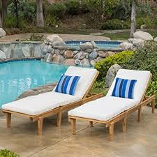 Teak Chaise Lounge Amazon Com Set Of 2 Paolo Outdoor Teak Brown Wood Chaise