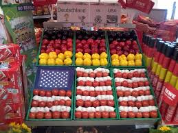 world cup soccer items amazing grocery store flag display created