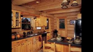Interior Log Home Pictures Designing Your Log Cabin Kitchens Youtube