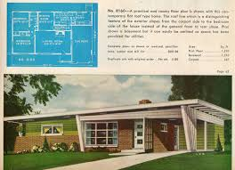 10 vintage house plans 1960s homes mid century homes plans one