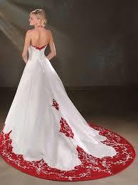 brautkleider rot weiãÿ luxus a linie satin brautkleid weiß rot mit neckholder