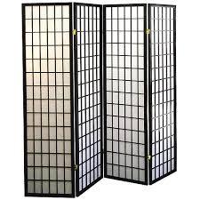 Shoji Screen Room Divider by 4 Panel Shoji Screen Room Divider Black Walmart Com 82 88