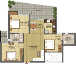 floor plan of gaur city 7th avenue tower