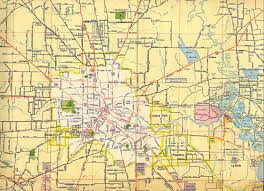 Texas State Road Map by Historical Maps Houston Galveston Area Council