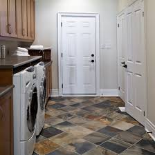 Tiled Basement Floor by Types Of Basement Laundry Room Flooring That Is Waterproof