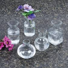 Cut Glass Bud Vase Vases Sale Amazon Com Small Cut Glass Vases In Differing Unique Shapes Set