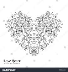 decorative love heart baroque royal style good greeting