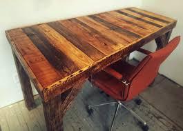 Reclaimed Wood Desk How To Make A Pallet Desk U2013 Fringe Focus Fantastic Factory