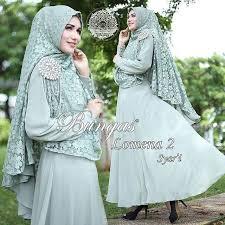 wedding dress syari supplier baju muslim terbaru