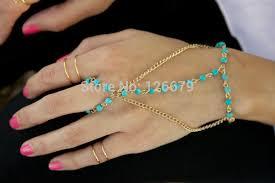 handmade chain bracelet images 2018 new fashion gold color rihanna lion head hand chain harness jpg