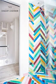 chevron bathroom ideas seven amazingly colourful shower room ideas bright bazaar by