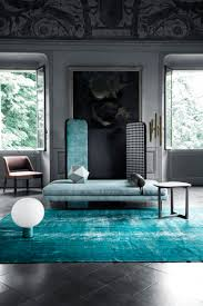 Modern Blue Rug Rustic Urban Interiors By Color