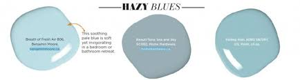 paint palette hazy blues interiors by color
