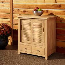 Outdoor Kitchen Cabinet Kits Kitchen Unfinished Wood Outdoor Kitchen Cabinet With Louver Doors