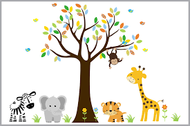 nursery print wall decals nursery baby room stickers kids jungle animal stickers baby room decals nursery print
