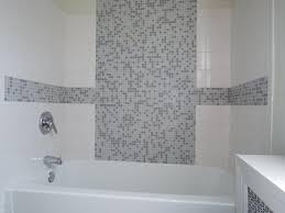 Bathroom Mosaic Tiles Ideas by Contemporary Full Bathroom With Limestone Counters U0026 Drop In
