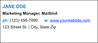 10 examples of professional email signatures for businesses mailbird