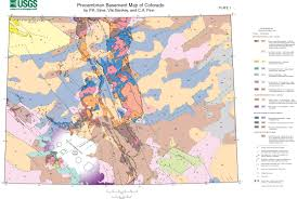 Maps Of Colorado Preliminary Precambrian Basement Map Of Colorado Html