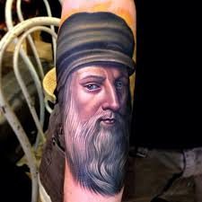 leonardo da vinci famous people tattoo tattoomagz
