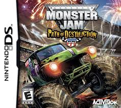 monster truck game video amazon com monster jam 3 path of destruction nintendo ds