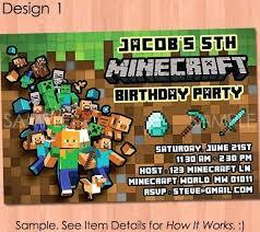 free printable birthday invitations minecraft minecraft birthday invitation card template free printable