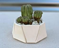 bkbceramics small white geometric planter