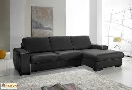 canapé d angle noir cuir canapé d angle en cuir reconstitué noir 2p 232x155x87cm l