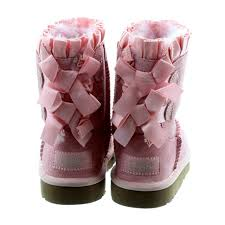 ugg bailey bow pink sale ugg bailey bow ruffle in pink in pink
