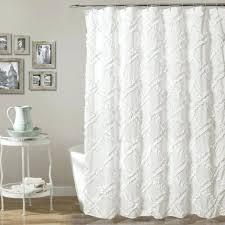 ruffle diamond shower curtain white ruffle shower curtain pottery
