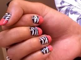24 black nail polish with design funyfashion