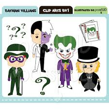 batman joker face clipart