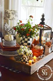 Fall Kitchen Decor - fall kitchen table centerpiece vignettes fall decor and