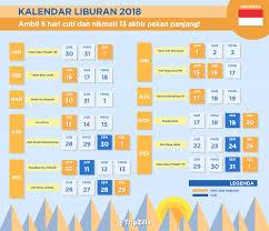 Kalender 2018 Hari Libur Indonesia Kalender Libur Nasional Dan 13 Weekend Di Indonesia 2018