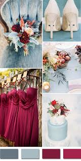 5 fall wedding colors september brides dusty blue
