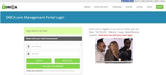 login to the dmca com client services portal