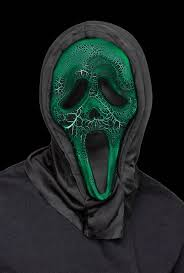 scream halloween mask smoldering fx charred burnt ghostface ghost face scream light up