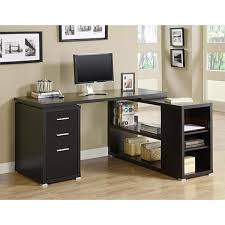 overstock l shaped desk cappuccino l shaped desk free shipping today overstock stylish l