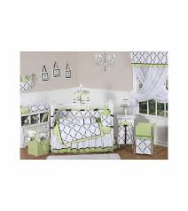 Green And White Crib Bedding Sweet Jojo Designs Princess Black White Green 9 Crib