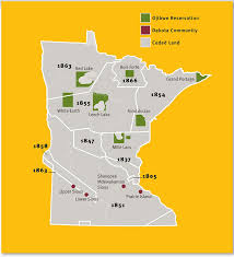 map usa indian reservations treatiesmatter org u s american indian treaties in minnesota