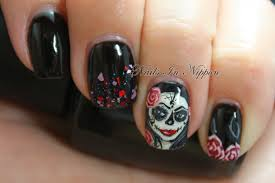 nail art sugar skull nail art the digit al dozen does autumn day