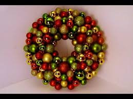 diy bauble ornament wreath
