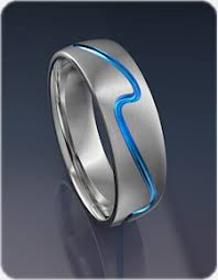 ring titanium surf wave titanium ring