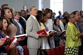 Obama First Family by Barack Obama Wishes America Happy Easter After Attending Service