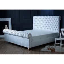 Velvet Bed Frame White Velvet Bed Frame King Size Beds From Uc Beds Uk