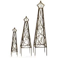 have to have it deer park metal crown top obelisk trellis