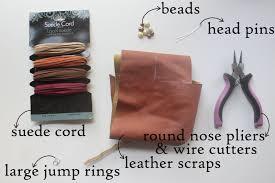 leather leaf necklace images Eat sleep make craft leather leaves necklace jpg