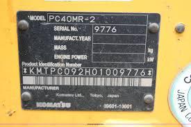 2007 komatsu pc40mr 2 mini excavator item h6607 sold se