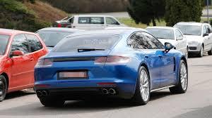 Porsche Panamera Back - 2017 porsche panamera turbo spied alongside the standard model