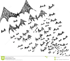 Drawing Of Halloween Sketch Of Black Halloween Bats Royalty Free Stock Image Image
