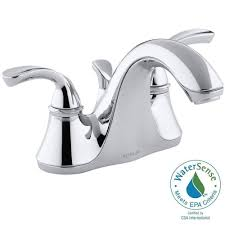 Water Conservation Faucets Delta Porter 4 In Centerset 2 Handle Bathroom Faucet In Chrome